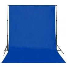 خلفية تصوير قماش لون ازرق مع استاند حامل للخلفيات