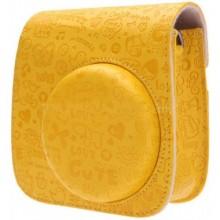 حقيبة جميلة وذات الوان رائعة لكاميرات فوجي الفوية ميني 8 اصفر