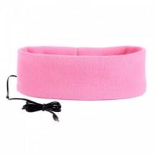 سماعة ربطة سماعات النوم والراحة والاسترخاء - لون وردي
