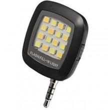 سلفي فلاش (16 LED) لزيادة الإضاءة للكامرة الامامية والخلفية - اسود