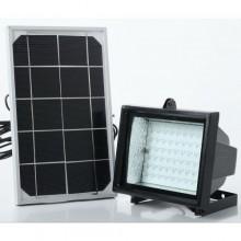 كشاف إضاءة الحدائق والأفنية، يعمل بالطاقة الشمسية مكون من وحدتين وحدة انارة 60 ليد ولوح طاقة شمسية