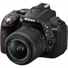 كاميرا نيكون D5500 ، عدسة 18 - 55 مم، شاشة 3.2 إنش - أسود