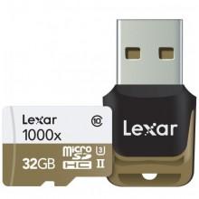 ليكسار بطاقة ذاكرة ماكرو 32 جيجا للجوالات والكاميرات 1000x microSDXC 64GB UHS-II/U3