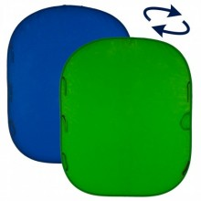 Collapsible Reversible 1.5 x 1.8m Chromakey Blue/Green