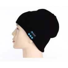 Men Women Outdoor Sport Bluetooth Stereo Magic Music Hat-Black
