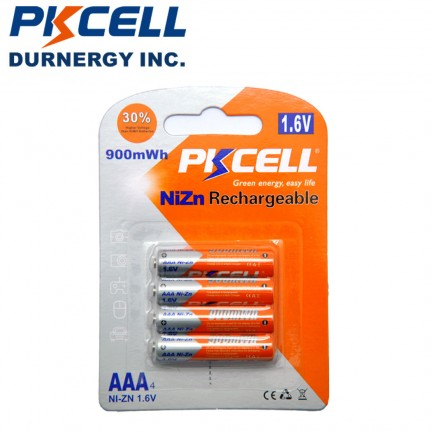 4Pcs PKCELL AAA Rechargeable Batteries aaa 900mWh 1.6V Battery