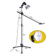 Phone Photography 1.3M Bracket Stand holder Boom Arm Super Bright 35W LED Ring Light Photo Studio Kit