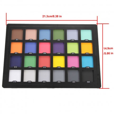 Professional 24 Color Checker White Balance Card for Camera Color Correction