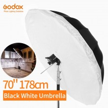 Godox 70 inch Black White Studio Reflective Umbrella with Large Diffuser Cover