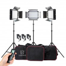 Godox LED500LRC II 1500W 3X LED 500W Photo Studio Video Continuous Light Kit
