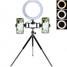 Metal Mini Tripod for Selfie LED Flash Light Multi-position Bracket