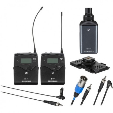 Sennheiser EW 100 ENG G4 Camera-Mount Wireless Combo Microphone System