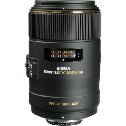 Sigma 105mm f/2.8 EX DG OS HSM Macro Lens for Nikon F