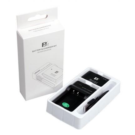 FB Fengbiao Canon LP-E17 Camera Battery EOS M3 M5 M6 760D 750D 800D 77D 200D Canon Micro-SLR Panel USB Mobile Charger Set