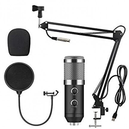 BM 900 USB Microphone Condenser Studio With Stand Tripod And Pop Filter Mic