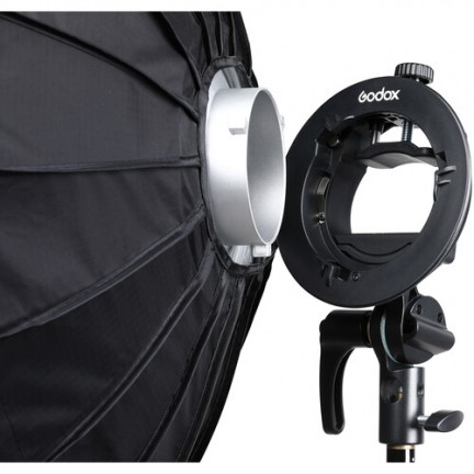 Godox S2 Bowens Mount Bracket with Softbox & Carrying Bag Kit (80x80cm )