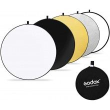 GODOX 60cm 5-in-1 Collapsible Round Portable Disc Light Reflector