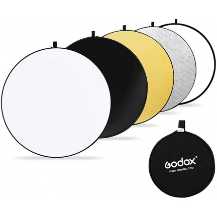 GODOX 80cm 5-in-1 Collapsible Round Portable Disc Light Reflector