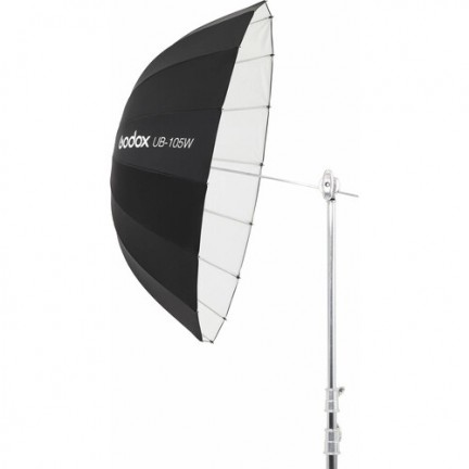"Godox Parabolic Umbrella 105CM (41.3"", White) UB-105W with diffuser"