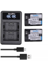 DuraPro 2 x 2000mAh LP-E6 Battery + LCD Charger For Canon 5D Mark II/III/IV, 5DS,5DS R,6D,6D Mark II,7D,7D Mark II,60D,70D,80D
