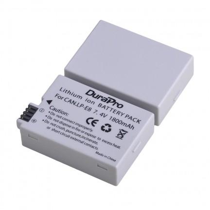 Durapro 2pc Battery For Canon LP-E8  Li-ion Batteries + LCD Dual USB Charger For Canon EOS 550D 600D 650D 700D Camera