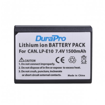 DuraPro 2pc LP-E10 LP Camera Li-ion Battery + LCD USB Charger For Canon 1100D 1200D Kiss X50 X70 Rebel T3 T5