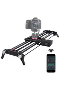 80cm ASHANKS Bluetooth Carbon Camera Slide Follow Focus Motorized Electric Control Delay Slider Track Rail for Timelapse Photography