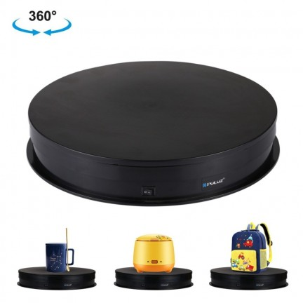 PULUZ 30cm USB Electric Rotating Turntable Display Stand Video Shooting Props Turntable for Photography, Load 10-20kg(Black)