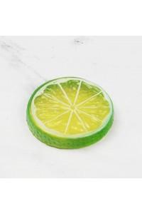Green Mini Photography Props Simulation Lemon Slices for Studio Photo Desktop Shooting Decoration Accessories