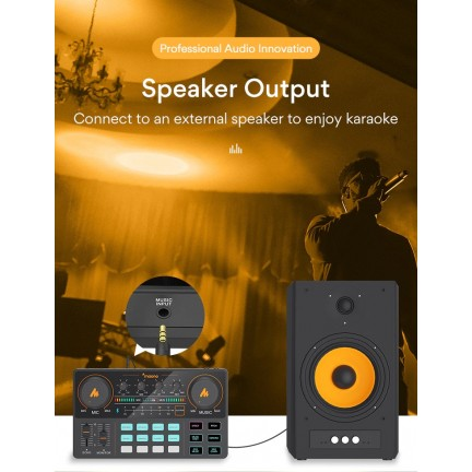 MAONO CASTER LITE AU-AM200 Microphone Mixer Digital Audio Interface Podcast Sound Card Rechargeable Podcaster for Phone Computer PC