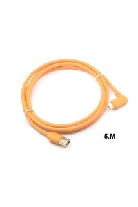 USB 3.0 to USB-C (High-Visibility Orange) for tethering a USB 3.0 camera to a computer with the smaller USB-C port 5m