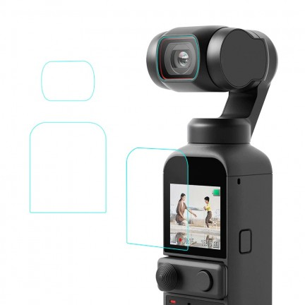 9H Tempered Glass Film For DJI Osmo Pocket 2 Gimbal Camera Lens Protective Glass Anti-scratch Screen Protector Accessories