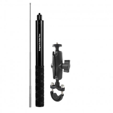 SM01-U Motorcycle Bike Camera Holder Handlebar Bracket Stand For Insta360 One R X & GoPro DJI YI Invisible Selfie Stick Accessory