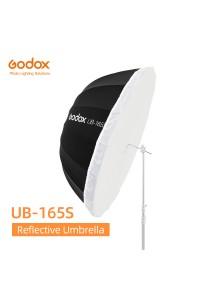 Godox UB-165S 65 inch 165cm Parabolic Black Reflective Umbrella Studio Light Umbrella with Black Silver Diffuser Cover Cloth