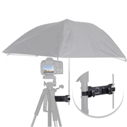 Camera Umbrella Holder Clip Clamp Bracket Spport Tripod for Outdoor