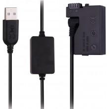 Power Bank Supply USB Adapter DC Coupler LP-E8 for Canon EOS