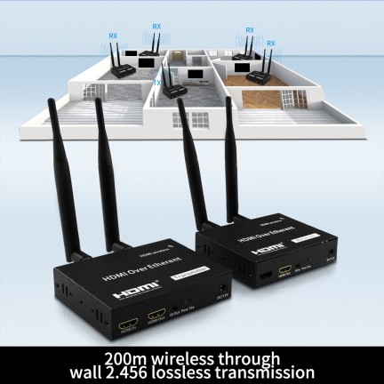 200m Loop Out Home Audio Video WIFI Wireless Receiver TV Electronic Portable Adapter
