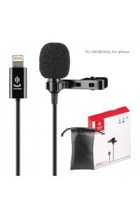 YC-LM10 II 1.5m Phone Audio Video Recording Lavalier Condenser Microphone