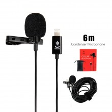 YC-LM22 II 6m Professional Lavalier Lightning Microphone for iPhone