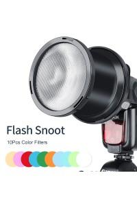 Falconeyes SGA-BOS 10pcs Color Filters Speedlite Flash Focused Snoot