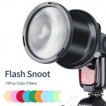 Falconeyes SGA-BOS 10pcs Color Filters Speedlite Flash Focused Snoot