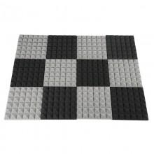 Black&Grey Charcoal Acoustic   Foam