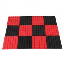 Black&Red Charcoal Acoustic  Foam