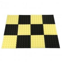Black&Yellow Charcoal Acoustic Foam