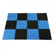 Black&Blue Charcoal Acoustic   Foam
