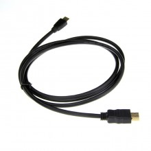 HDMI Male to Mini HDMI Male Cable Connection Cable - Black (1.5m)