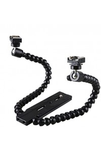 Flexible Magic Arm Camera Flash Bracket Mounting with Standard Hot-shoe