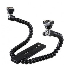 Flexible Magic Arm Camera Flash Bracket Mounting with Standard Hot-shoe
