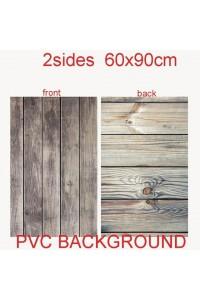 60X90cm 2sides 24color PVC Photography Backdrops