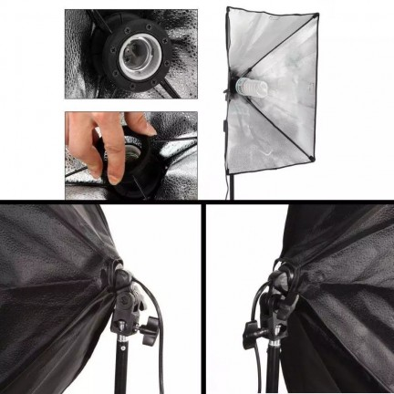 Photo Studio 60x60 Softbox Lighting Kit